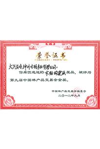 第九届中国林产品交易会金奖(木结构建筑)